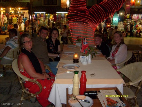 På restaurant nede i sentrum av Kusadasi