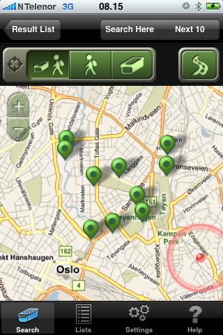 Geocaching på iPhone