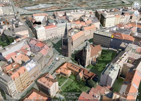 Praha sett fra Google Earth