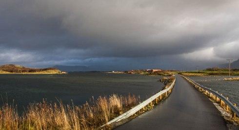 Uvær og sol i Brønnøysund