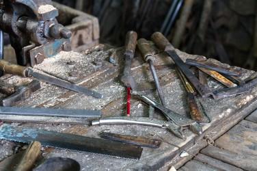 Noe av smedens verktøy