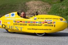 En belgier sykler til nordkapp og tilbake for barn med kreft.