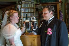 På puben Siste Reis for å ta en Guinness før middagen.
