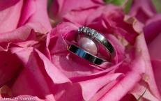 Ringene i brudebuketten
