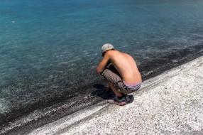 Deilig ved vannet her, men fryktelig varmt