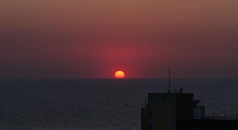 Utsikt fra verandaen på AliBabam hotel