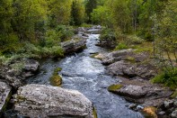 Jeg kjørte tur opp i fjellet ovenfor Ål til et sted som het Vats.