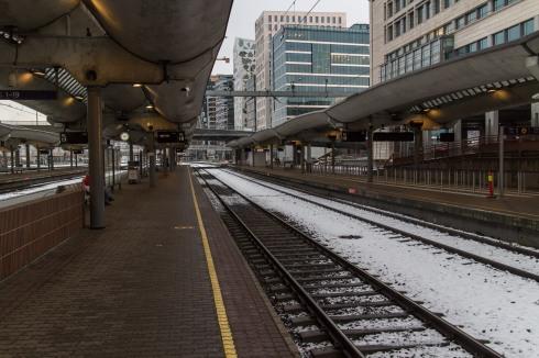 Jeg venter på toget fra Halden