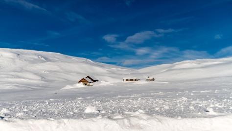 Stoppet for å ta bilder på Hardangervidda etter et besøk i Bergen
