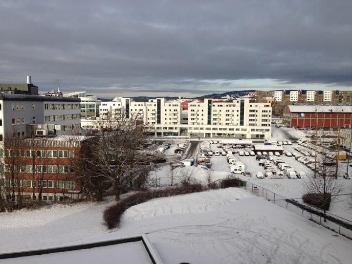 utsikt fra kontoret