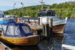 Båter ved havna i Halden