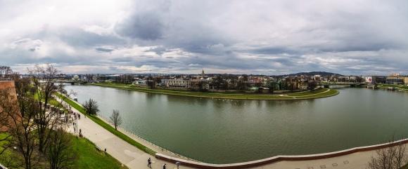 Utsikt fra slottet i Krakow