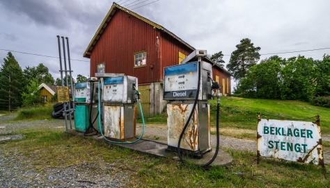 Stine og jeg kjørte søndagstur til Strømsfoss sluser