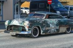 Første samling på våren av klassiske biler i Halden.