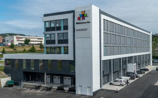 Fasaden på nybygget
