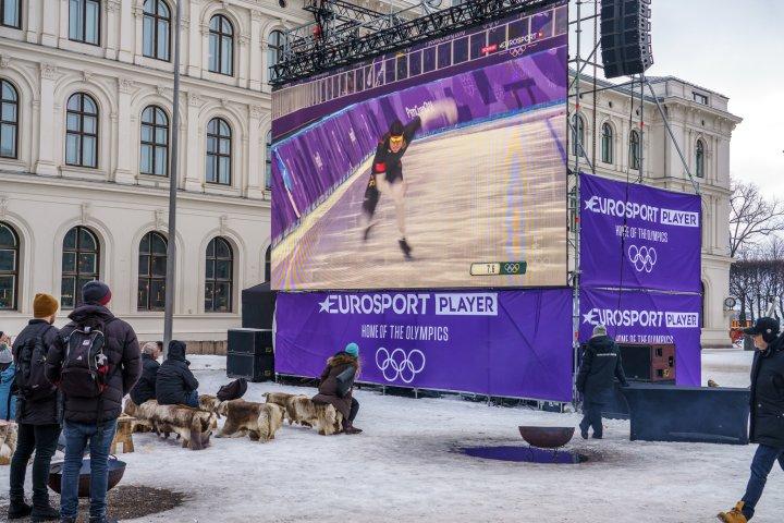 OL på storskjerm