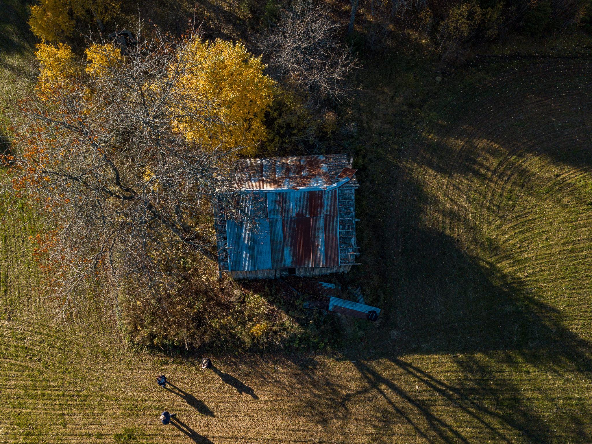 Gammel husmannsplass i skogen ved mølla